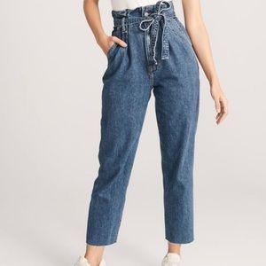 Abercrombie & Fitch Paper Bag Waist Mom Jeans